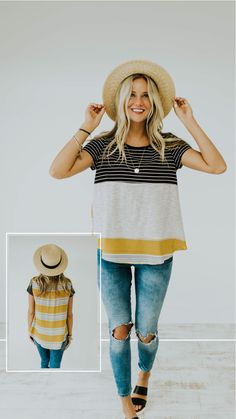 Black striped top - ROOLEE