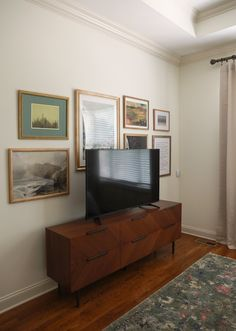 Decorating around a tv | In Honor Of Design