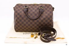 LOUIS VUITTON EBENE 30 DAMIER EBENE SPEEDY BANDOULIERE CANVAS N41367 TOTE  BAG GHW. Color   99178d2df08