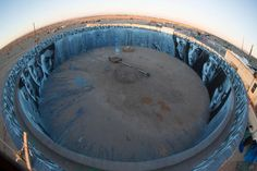 'Kinetoscope', A 360-Degree Mural Inside an Abandoned Water Tank in Slab City, California.