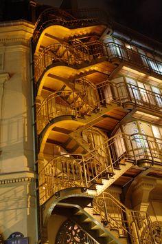 Théâtre du Palais-Royal exterior stairs by Victor Horta, Paris