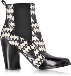 Pin for Later: Put Your Best Foot Forward With These Winter Boots Sales Kenzo Black and White Snake Print Ankle Boot Kenzo Black and White Snake Print Ankle Boot (£312, originally £625)