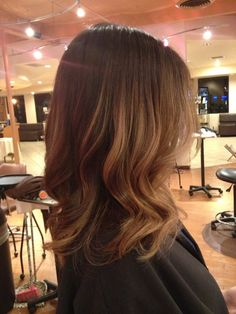 Medium length balayage highlights by Annie Trang