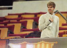 Vettel at Camp Nou