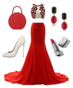 """""""red carpet"""" by sophiejf ❤ liked on Polyvore featuring Mansur Gavriel, Dsquared2, 1st & Gorgeous by Carolee and Burberry"""