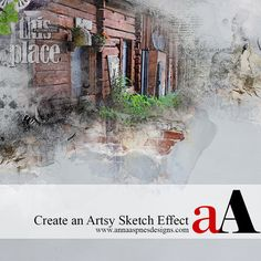 Artsy Sketch Effect Using Apps Tutorial for digital artistry, crafting, photo-editing and scrapbooking in Adobe Photoshop and Elements.