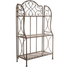 Antique Bronze Iron 3-Tier Baker's Rack