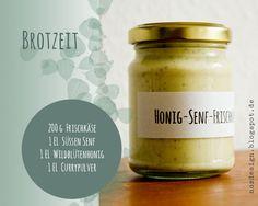 Honig-Senf-Frischkäse-Aufstrich