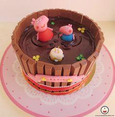 Tarta Peppa pig. Aroma de chocolate.