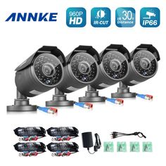 103.39$  Watch now - http://alif2h.worldwells.pw/go.php?t=32761096405 - ANNKE 4PCS AHD 960P Security Cameras CCTV Camera indoor outdoor P2P IP66 Waterproof IR Cut night Vision