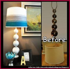 Dollar Store Crafter: Lamp And Shade Makeover