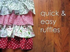 Tutorial: Gathering and Ruffling the QUICK Way!