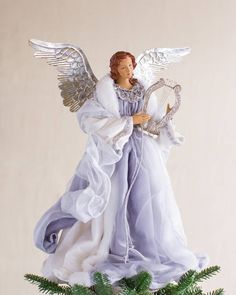 Silver Metallic Angel Tree Topper Main