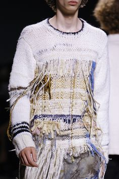 Fabric manipulation and textile design - Dries Van Noten Spring 2017 Menswear Fashion Show Details