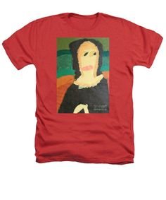Patrick Francis Designer Heathers Red T-Shirt featuring the painting Mona Lisa 2014 - After Leonardo Da Vinci by Patrick Francis