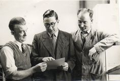 My father is the one in the glasses. This was one of a set of photographs taken for the company he worked for, Burroughs, probably in the early 1960s.