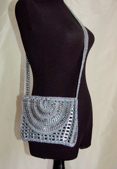 Silver Upcycled Aluminum Pop Tab Purse Sunkist by 06sense on Etsy, $250.00