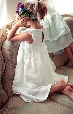Blumenmädchen Kleid Baby Kleid Vintage Blumenmädchen von Sfoshop