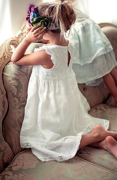 Flower girl dress white flower girl dress girls lace by Sfoshop