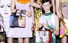 Anna, Cindy, Sabrina, Ashleigh, Amanda, Ophelie, Lexi, Ola, Julia & Maarjan by Steven Meisel for Prada Spring Summer 2014