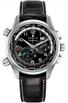 Zenith 03.2400.4046/21.c721 Pilot Doeblematic - черные - часы швейцарские мужские наручные