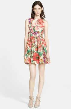 This Red Valentino floral poplin dress is so pretty!