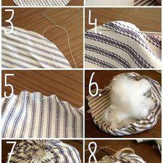 DIY Ticking Stripe & Drop Cloth Pumpkins {Easiest Fabric Pumpkins!}