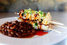 Maple glazed chicken kabobs with sweet jalapeno salsa. I can totally Paleo-fy this. Maple glazed chicken kabobs with sweet jalapeno salsa. I can totally Paleo-fy this. Quesadillas, Maple Glazed Chicken, Jalapeno Salsa, Chicken Jalapeno, Great Recipes, Favorite Recipes, Yummy Recipes, Syrup Recipes, Dinner Recipes