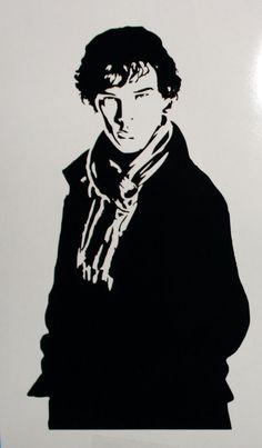 Benedict Cumberbatch Sherlock Holmes Decal on Etsy, $6.00