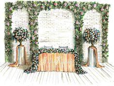 "35 Likes, 1 Comments - i0sik Юлия Каюда (@i0sikkayuda91) on Instagram: ""И вот еще один эскиз для @buket.io #illustrations #illustrator #weddingdecor #wedding…"""