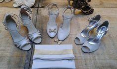 Chaussure de danse et de mariage haut de gamme, fabrication italienne, 100% personnalisable. Souple et confortable. Ici en cuir pailleté. Gladiator Sandals, Shoes, Fashion, Leather, Dance, Heels, Top, Weddings, Moda