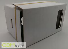 Google recently launched Google cardboard which is viewable with a stereoscopic VR mobile phone viewer. This customisable Google cardboard viewer offers brands excellent coverage with it's large areas of blank space.