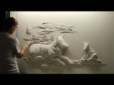 Stunning art made out of drywall - YouTube