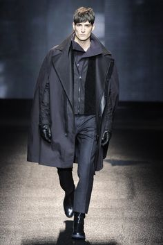 Turn up the volume...on your coat. Salvatore Ferragamo Mens Fall 13.