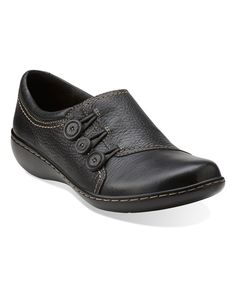 Look at this Clarks Black Ashland Effie Shoe on #zulily today!