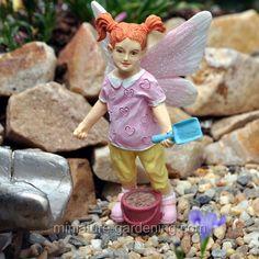 Miniature Gardening - Sand Pail Fairy Kid  #fairy #garden