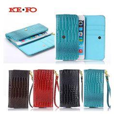 KEFO Universal Crocodile PU Leather Wallet Female / Women Purse Credit Card Holder Phone Bag Case For Vkworld VK700 5.5 inch #Affiliate