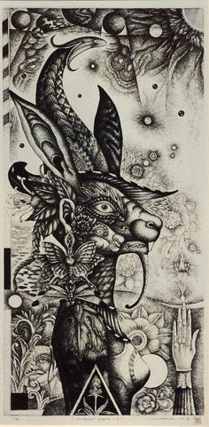 METAMORPHOSIS No.37 Night Dreamer Technique: engraving  (Etching, Akuwachinto, engraving) :  by Mitsuru Nagashima