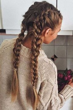 Most Gorgeous Twisted Braided Blonde Hairstyles Idea For Summer Prom - Page . - Most Gorgeous Twisted Braided Blonde Hairstyles Idea For Summer Prom – Page 27 of 58 Blond Hairstyles, French Braid Hairstyles, Box Braids Hairstyles, Quick Hairstyles, Pretty Hairstyles, Hairstyle Ideas, Hairstyles Games, Hairstyles 2018, African Hairstyles