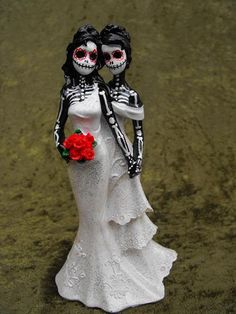 Clay Lindo Day Of The Dead Wedding Cake Toppers 10 13 17 Pinterest And