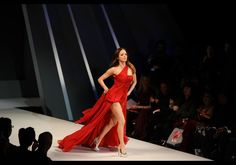 Rose McGowan in Donna Karen - The Heart Truth's Red Dress Collection 2012 Fashion Show