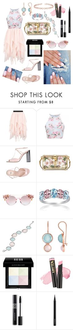 """""""In the Southern Sun"""" by ashleyhuang68 ❤ liked on Polyvore featuring Boohoo, Fendi, Dolce&Gabbana, Glitzy Rocks, Phillip Gavriel, Givenchy, L.A. Girl, Christian Dior, MAC Cosmetics and Allurez"""