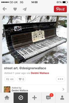 Military are interested - may work if paint a tank to look like a big bus shelter ? - Well this bench looks so like a piano !! ✔️