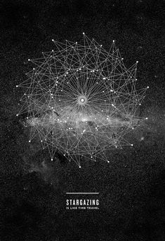 """""""Stargazing is like time travel."""" Everything I love about looking at the stars. Print by Amanda Mocci"""