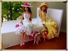#EuroRomaFiore #Sombrinha #Umbrella #Paragua #EuroRomaespecial5 #Doll #Barbie #Crochet #Vestido #Chapéu #Purse #Dress #Hat #Sombrero  #RaquelGaucha