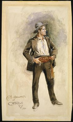 Self-Portrait by Charles M. Russell