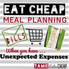 Tamie Eats Cheap: Eating Cheap :: Meal Planning When You Have Unexpected Expenses