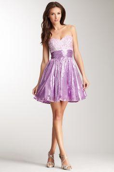 Sweetheart Sequin Dress by La Femme on @HauteLook