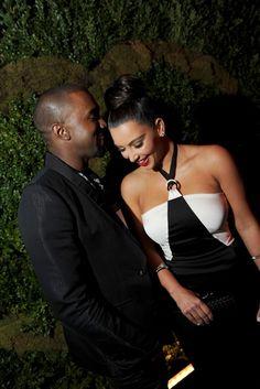Kanye West with Kim Kardashian in Chanel.