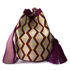 Tapestry Crochet Patterns, Tapestry Bag, Large Bags, Bucket Bag, Purses, Knitting, Nice, Summer, How To Make